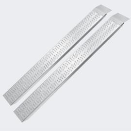 Laadbrug oprijplaat draagbaar aluminium 2 stuks 160cm tot 540kg