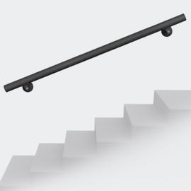 Trapleuning handrail wandbevestiging zwart 190cm