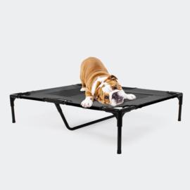 Hondenbed verhoogd ligbed zwart large tot 25kg 92x77x20cm