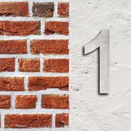 Huisnummer 1 Arial rvs/inox 3D 20cm weerbestendig