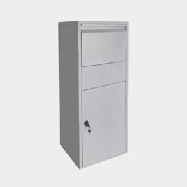 Pakketbrievenbus grijs voor pakketten maat S en L