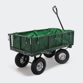 Tuinkar tot 300kg afneembare afdeklijst roosterwagen