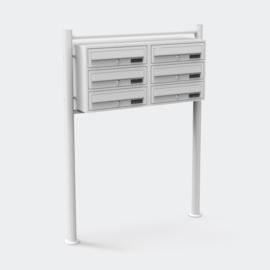 Zesvoudige brievenbus staand model wit V2