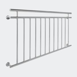 Balkonleuning reling balustrade RVS 90 x 156cm