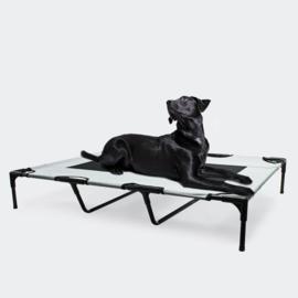 Hondenbed verhoogd ligbed grijs XL tot 30kg 122 x93x20cm
