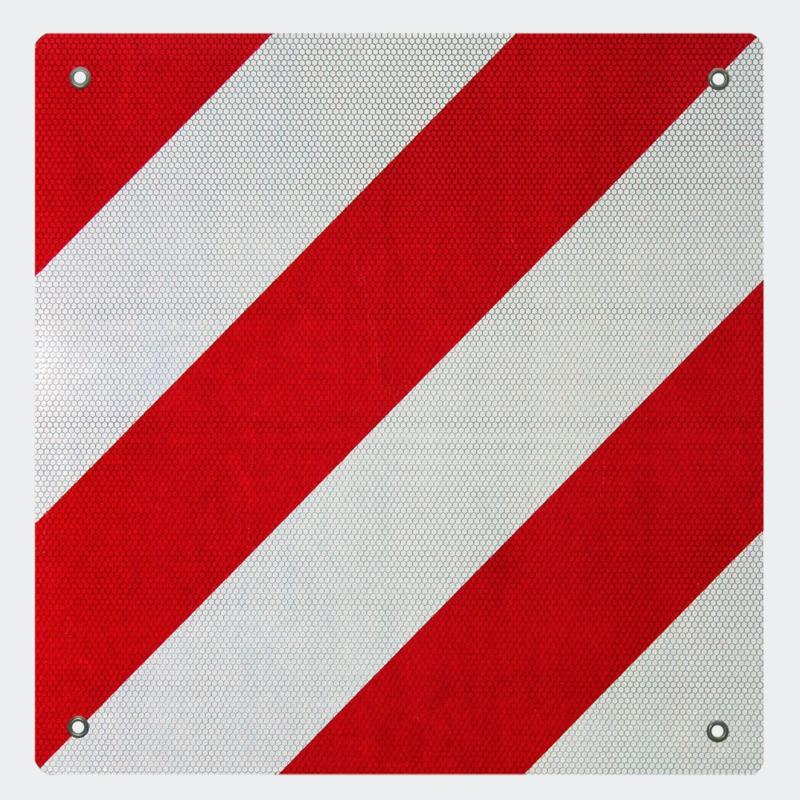 Achterwaarschuwingsbord 500x500mm rood/wit Spanje