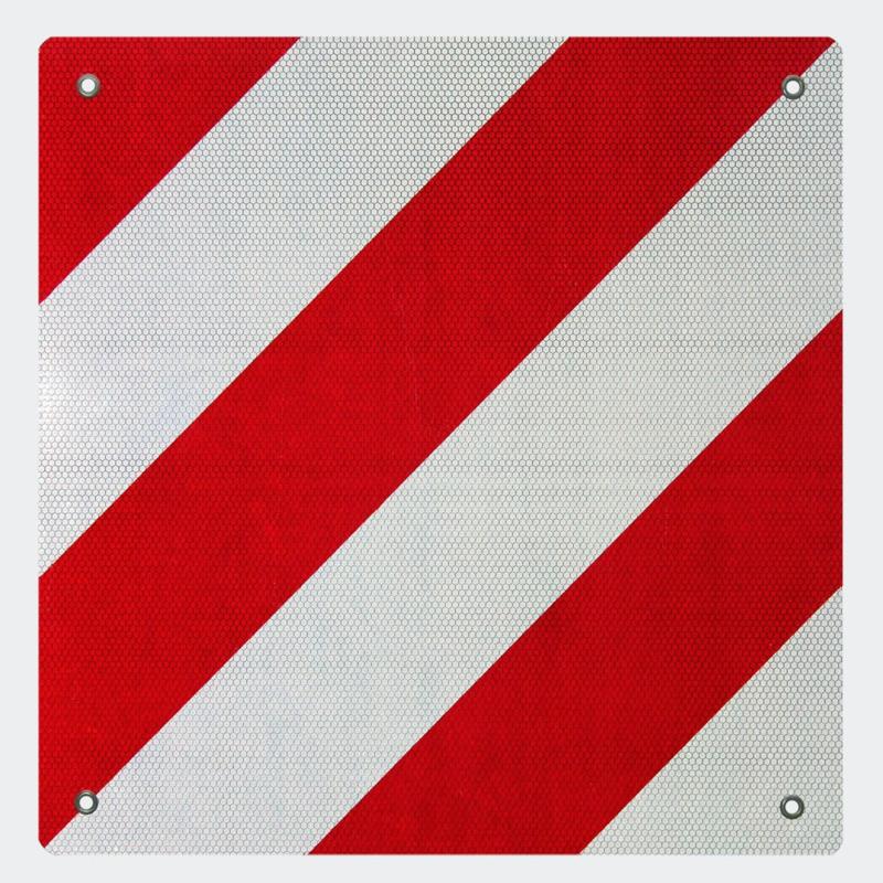 Waarschuwingsbord 500x500mm rood wit camper/caravan Spanje