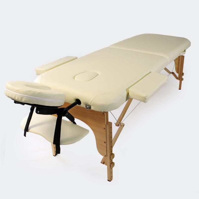 Massagetafel therapiebank met 2 zones beige