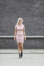 Ribbed Midi Dress Pink