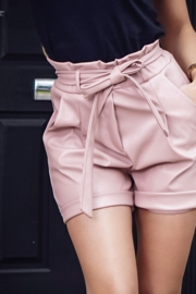 Leather Short Pink