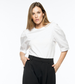 Poplin white t-shirt