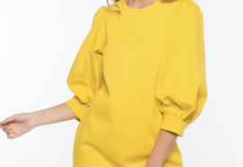 Poplin dress yellow