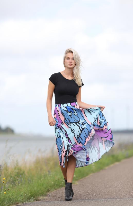 Plissé Skirt  Midi