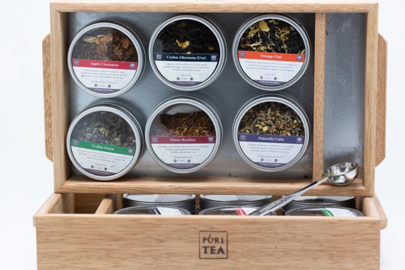 6 verschillende soorten thee in een leuke cadeauverpakking