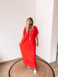 Eivissa dress red