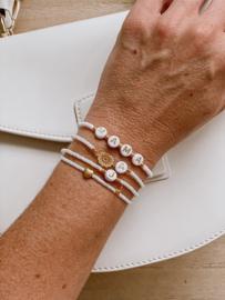 Witte personaliseerbare armband miyuki kralen