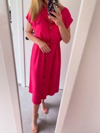 Leah dress fuchsia