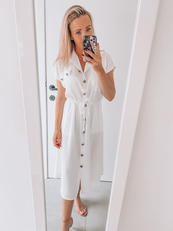 Leah dress white