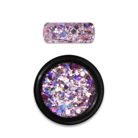 Moyra Rainbow Holo Glitter Mix 3. Rose