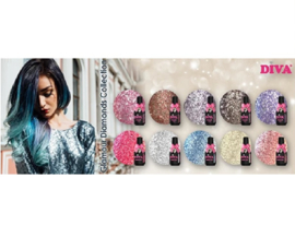 Diva Gellak Glamour Diamonds Collection  10pcs