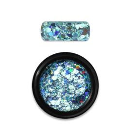 Moyra Rainbow Holo Glitter Mix 4. Turquoise