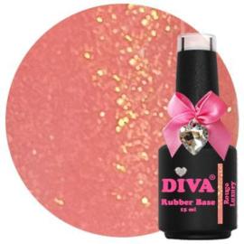 Diva Gellak Rubber Basecoat Rouge Luxury 15 ml