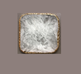 Display Stone Off White Square