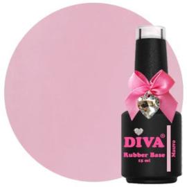 Diva Gellak Rubber Basecoat Mauve 15 ml