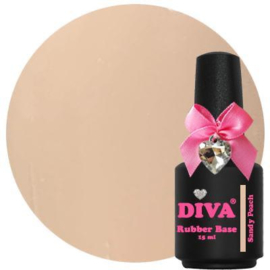 Diva Gellak Rubber Basecoat Sandy Peach 15 ml