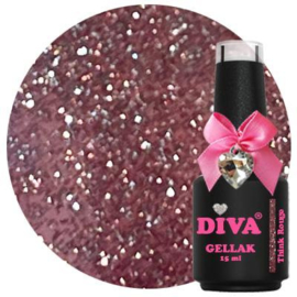 Diva Gellak Think Rouge - Think Glitter Collection
