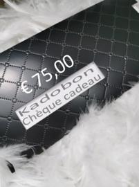 Kadobon € 75,00