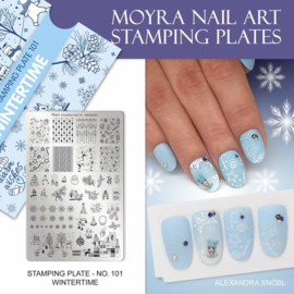 Moyra Stamping Plate 101 Wintertime