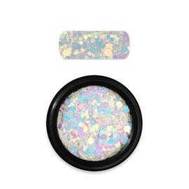 Moyra Rainbow Holo Glitter Mix 12 Chameleon White