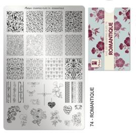 Moyra Stamping Plaat 74 Romantique