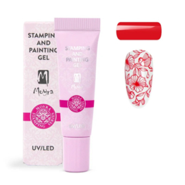 Moyra Stamping and Painting Gel No.04 Red