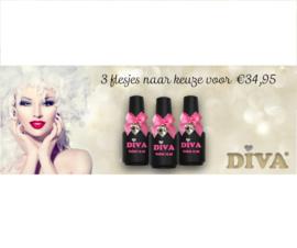 Diva Gellak 3 flesjes 15 ml naar keuze - NIET GELDIG OP CAT EYES EN GLITTERS