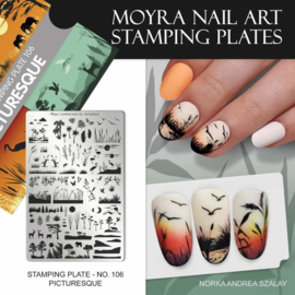 Moyra Stamping Plate 106 Picturesque