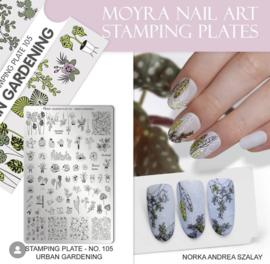 Moyra Stamping Plate 105 Urban Garden