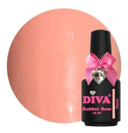 Diva Gellak Rubber Basecoat Peach 15 ml