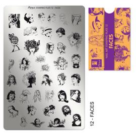 Moyra Stamping Plaat 12 Faces