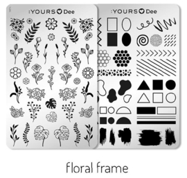 Yours loves Dee - Floral Frame - Double Sided - Spring Fever Collection