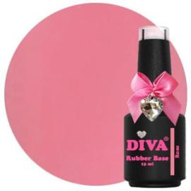 Diva Gellak Rubber Basecoat Rose 15 ml