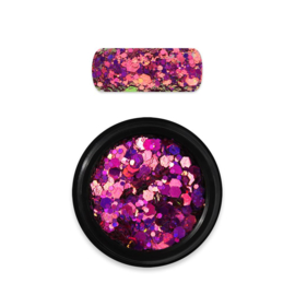 Moyra Rainbow Holo Glitter Mix 13 Chameleon Pink