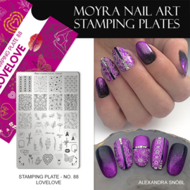 Moyra Stamping Plaat 88 LoveLove