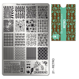 Moyra Stamping Plate 21 Retro