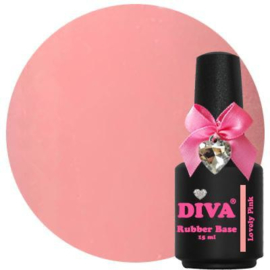 Diva Gellak Rubber Basecoat Lovely Pink 15 ml