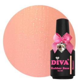 Diva Gellak Rubber Basecoat Shimmer 15 ml