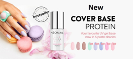 Cover Base Protein Pastel Collection - 5 x 7.2 ml - + Gratis Top Sun blokker - Pastel21