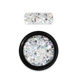 Moyra Rainbow Holo Glitter Mix 5. White
