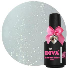 Diva Gellak Rubber Basecoat White Luxury 15 ml